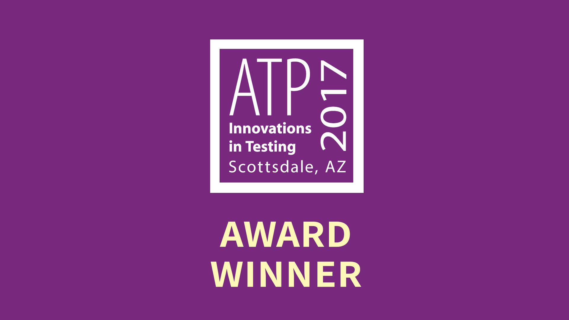 ATP 2017 Innovations in Testing - Award Winner Surpass