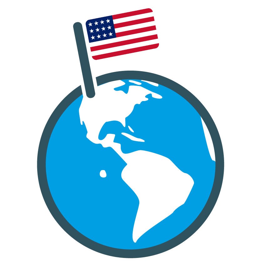 USA globe icon