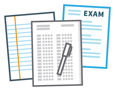 Paper exam icon