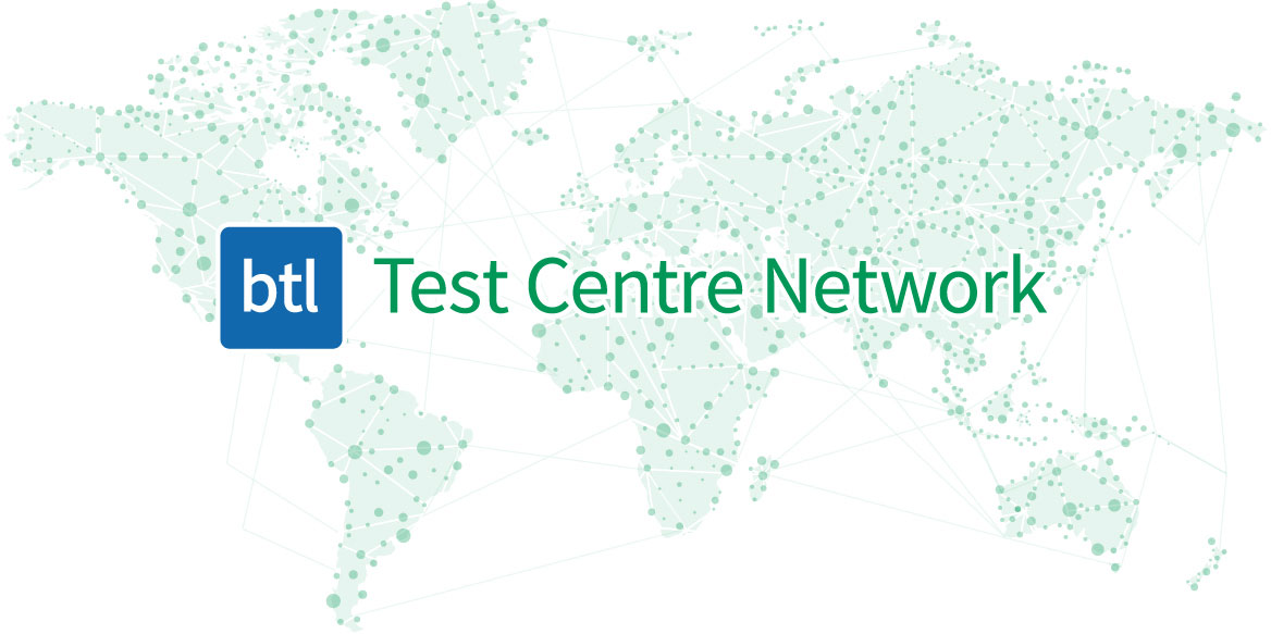BTL Test Center Network map