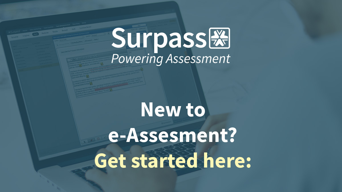 New to e-Assessment?